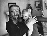 Archbishop Laurus (future First-Hierarch of ROCOR) with the author's daughter (~1987), San Francisco